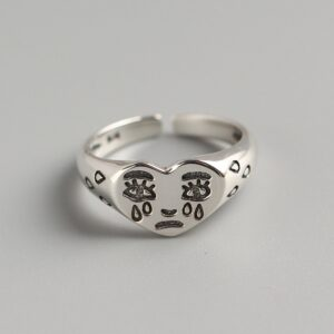 Creative Crying Face Tears Ring
