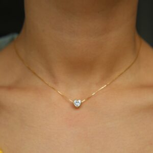 Cubic Zirconia Stone Necklace