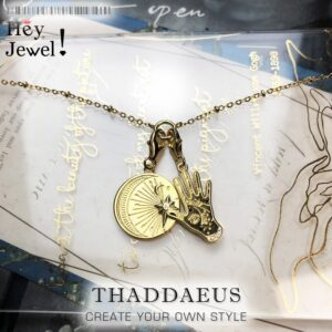 Charm Necklace Hand and Moon