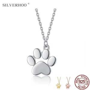 Silver Necklace Animal Paw