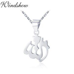 Silver Allah Pendant Necklace