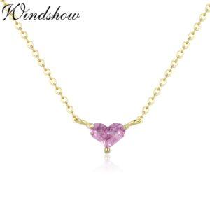 Pink Heart CZ Choker Necklace