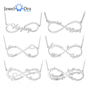 Silver Personalized Infinity Necklace