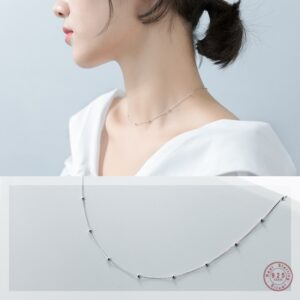 Cross Chain Bead Necklace
