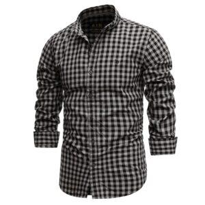 Spring 100% Cotton Plaid Shirt