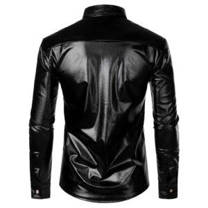 Black Sequin Glitter Dance Shirt