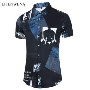 Fashion Print Beach Hawaiian Shirt