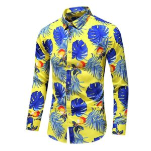Autumn Fashion Flower Printing Shirts