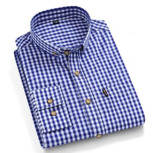 100% Cotton Checkered Dress Shirt