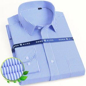 Vertical Striped Men Social Shirts