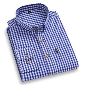 Cotton Plaid Checked Casual Shirt