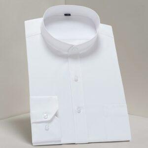 Classic Mandarin Collar Dress Shirts