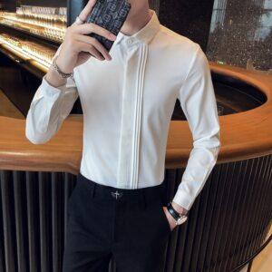 British Spring Men Tuxedo Shirt