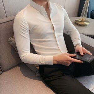 Business Formal Wear Striped Shirts