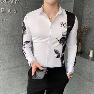 Digital Print Fashion Patchwork Shirt