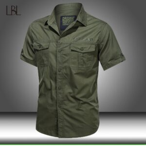 Summer Tactical Military Cotton Shirts