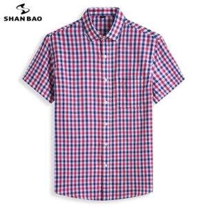 Classic Plaid Cotton Summer Shirt