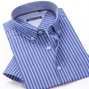 Men Summer Fashion Striped Shirt