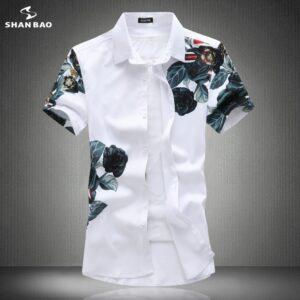 Rose Splash Printing Casual Shirt
