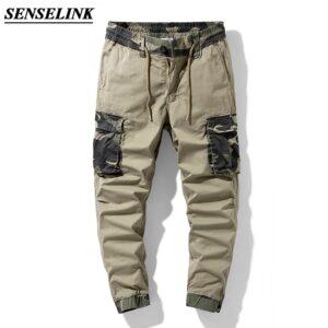 Camouflage Print Men Cargo Pants