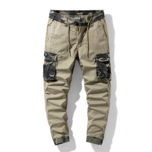 Army Green Print Cargo Pants