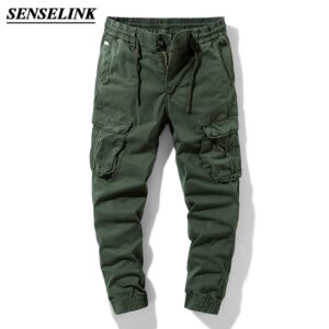Army Green Jogger Cargo Pants