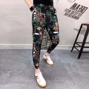 Summer Flower Pants Casual Trousers