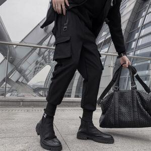 Black Cargo Pants Joggers Streetwear