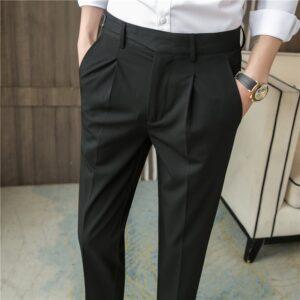 British Style Slim Fit Dress Pants
