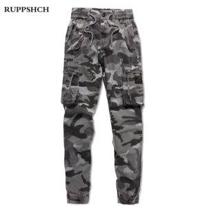 Camouflage Sports Cargo Cotton Pants