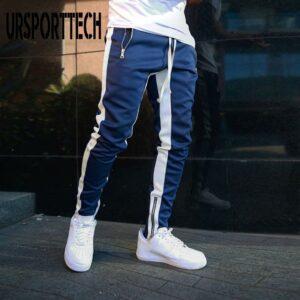 Men Cargo Pants Stripe Trousers