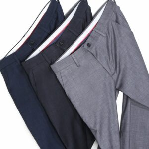 Plaid Casual Pants Stretch Trousers