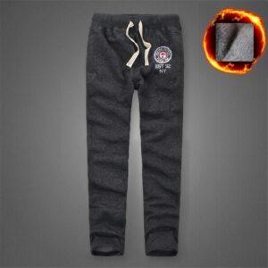 Winter Men Pants Cotton Sweatpants