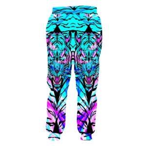 Digital Print Colorful Tiger Sweatpants