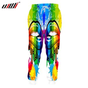 Winter Colorful Lips Summer Trousers