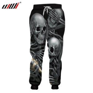 Skeleton Skull Harem Joggers Pants