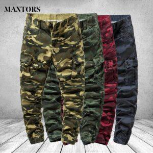 Camouflage Cotton Pants Bermuda Trousers