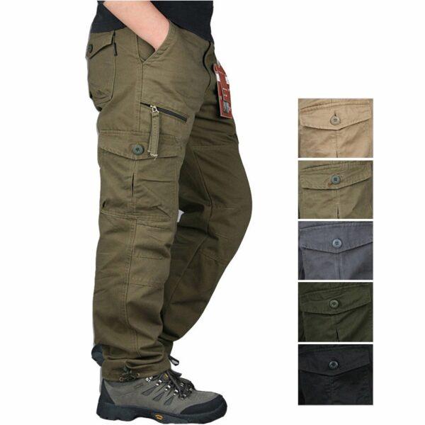 Cotton Tactical Pants Men Streetwear