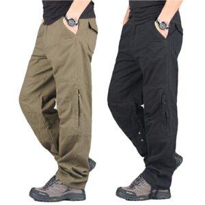 Men Streetwear Casual Military Trousers