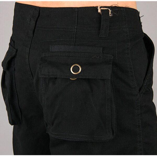 Baggy Pants Denim Cargo Trousers