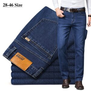 Business Straight Jeans Stretch Trousers
