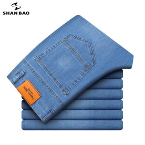 Straight Loose Lightweight Stretch Jeans