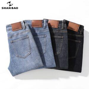 Classic Style Slim Stretch Jeans