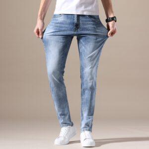 Stretch Denim Pants Skinny Trousers