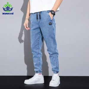 Denim Jogger Pants Cargo Jeans