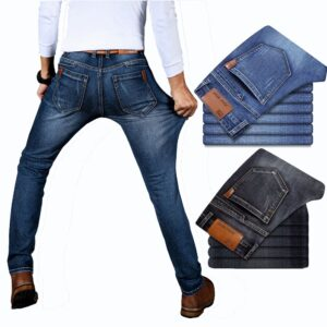 Business Fashion Jeans Denim Trousers