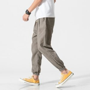 Streetwear Harem Pants Linen Sweatpants