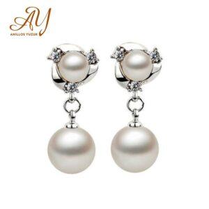 Allergy Freshwater Pearl Drop Earrings