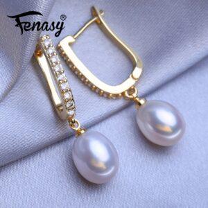 Geometric Silver Gold Drop Earrings