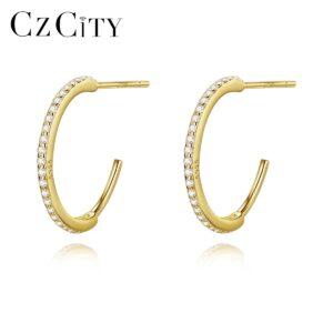 Sterling Silver Cuff Hoop Earrings